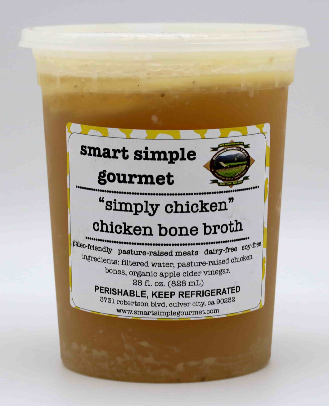 - Chicken Bone Broth - 28 fl OZ