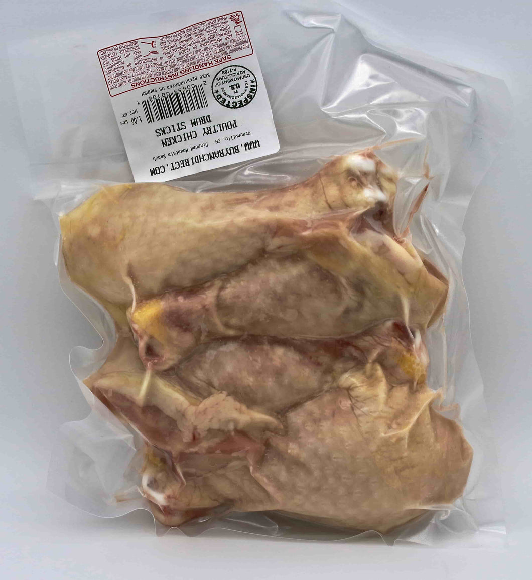 - Chicken Drum Sticks, 3-4 per pack - 1.0 lbs