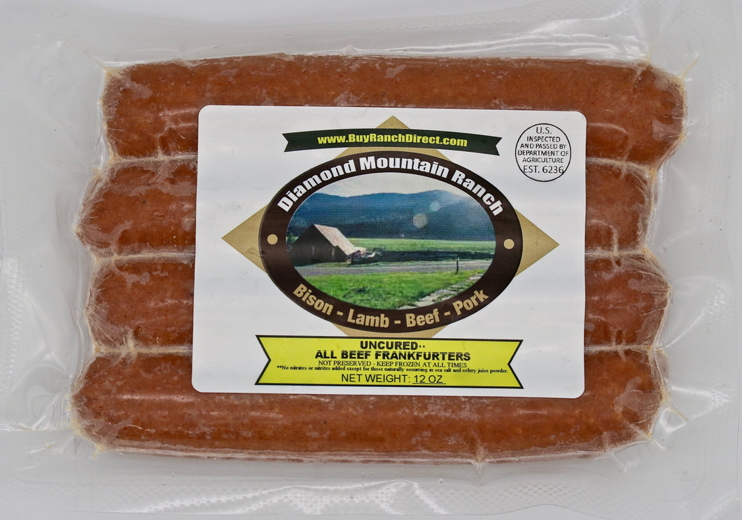 Beef Uncured All-Beef Hot Dogs, Caseless - 4 per pack - 0.75 lbs