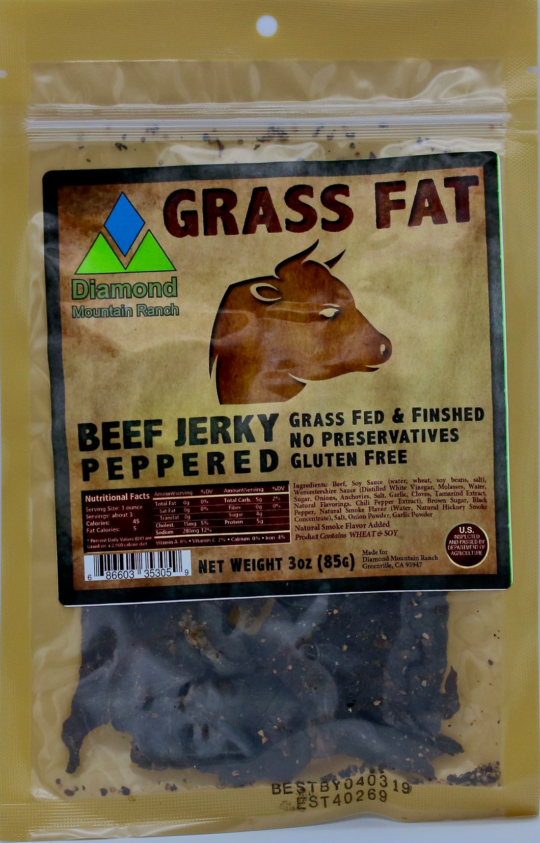 - Beef Jerky - Black Pepper - 3 oz