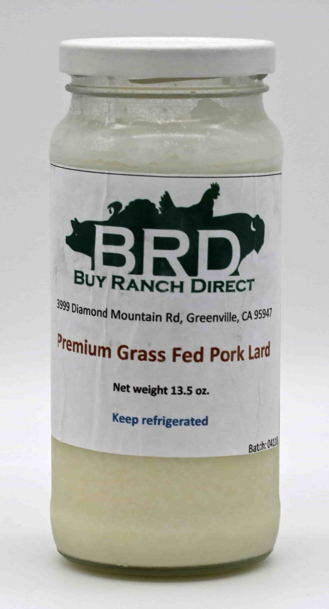 Pork Premium (Cooking) Lard - 13.5 fl. oz Glass Jar