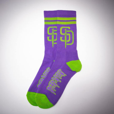 Stab Diego Socks - Purple/Lime