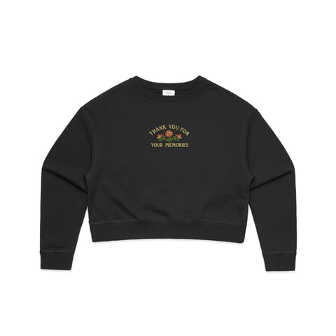 Memories - Cropped Crew Sweater