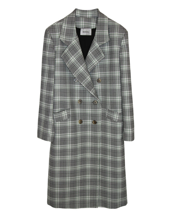 No*64 Beckett Plaid Double Breasted Car Coat