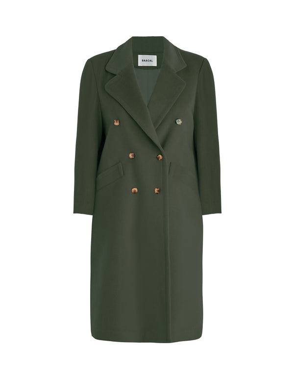 No*59 Loden 90's Double Breasted Car Coat