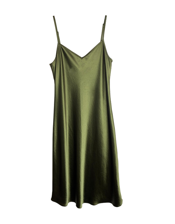 Cabaret Bias Slip Dress - Cilantro