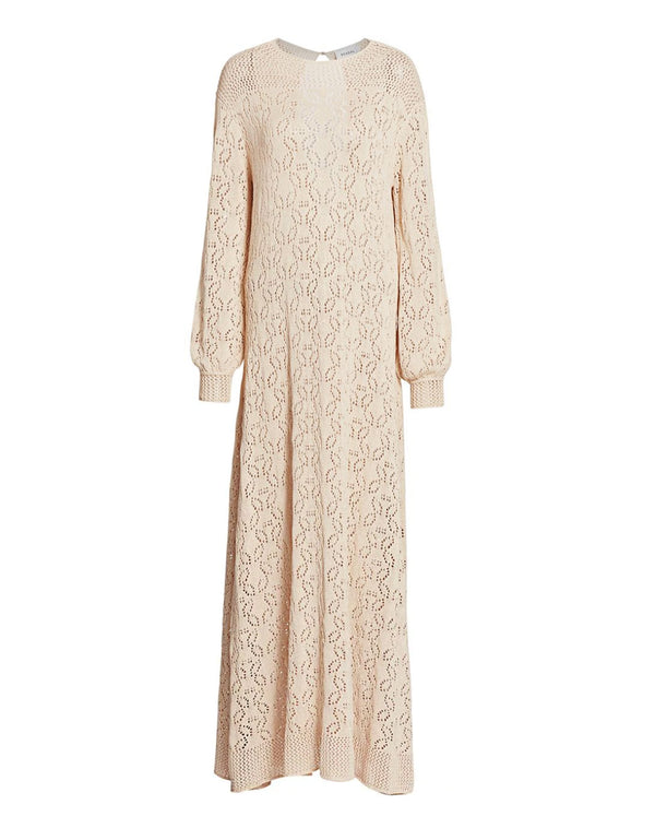 Loren Crochet Maxi Dress Ivory