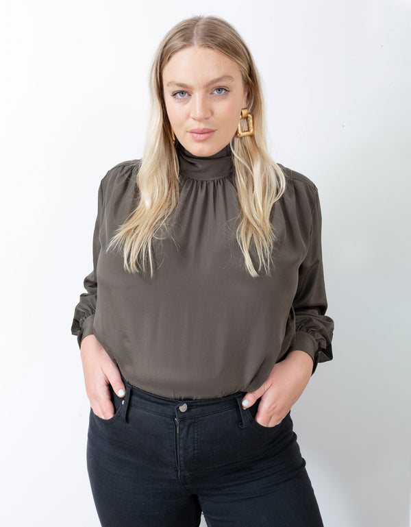 No*23 Tie Neck Blouse