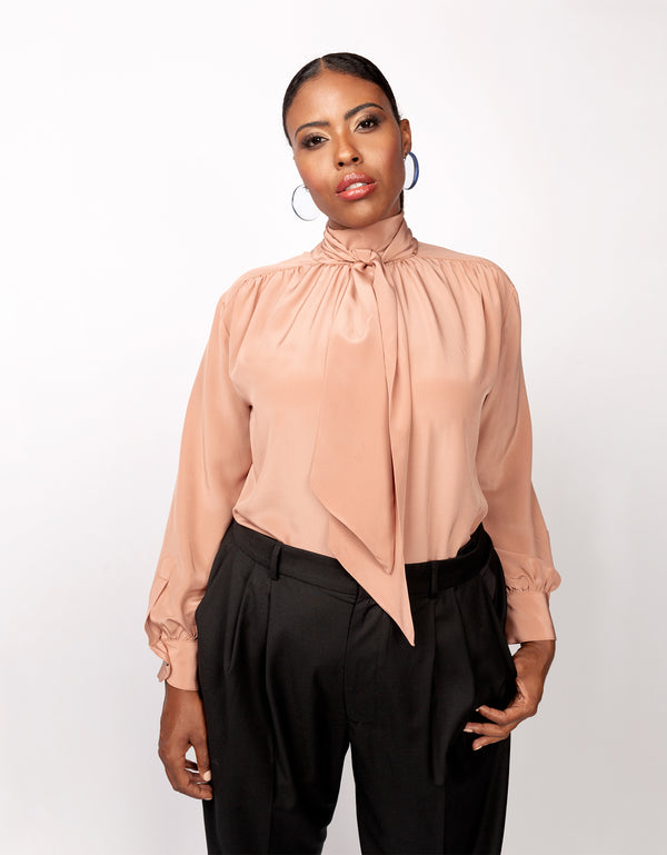 No*45 Marion Tie Neck Blouse