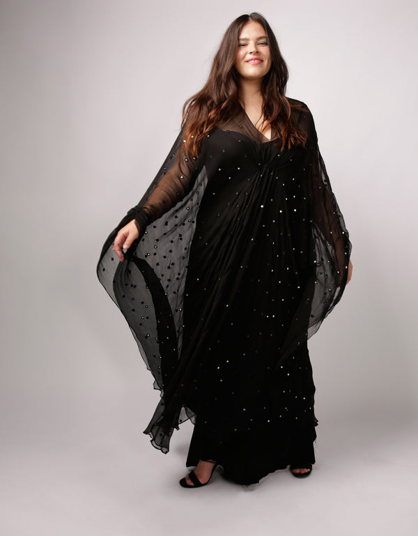 V Neck Mirror Kaftan