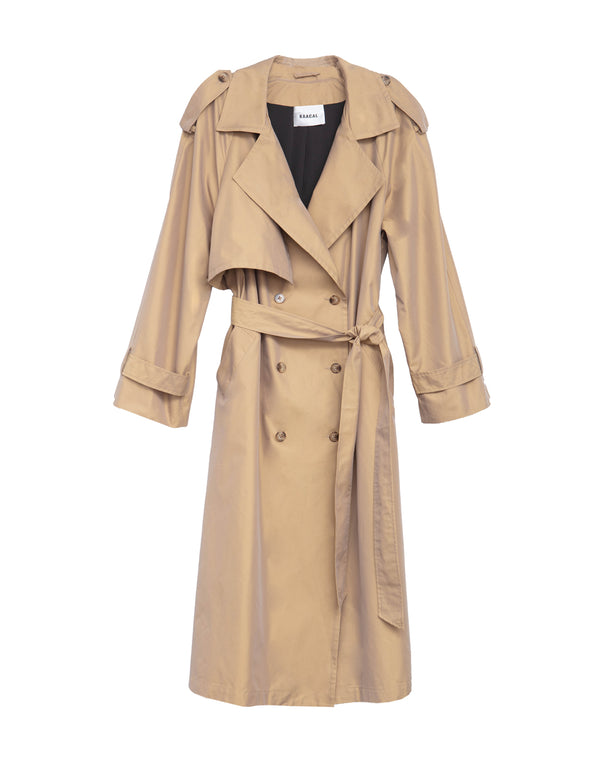 women's double breasted trench coat with belt