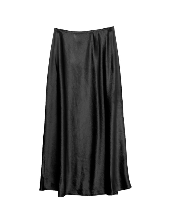 BLACK TURNER BIAS SKIRT