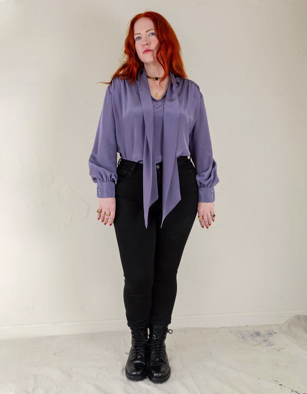No*18 Marion Tie Neck Blouse