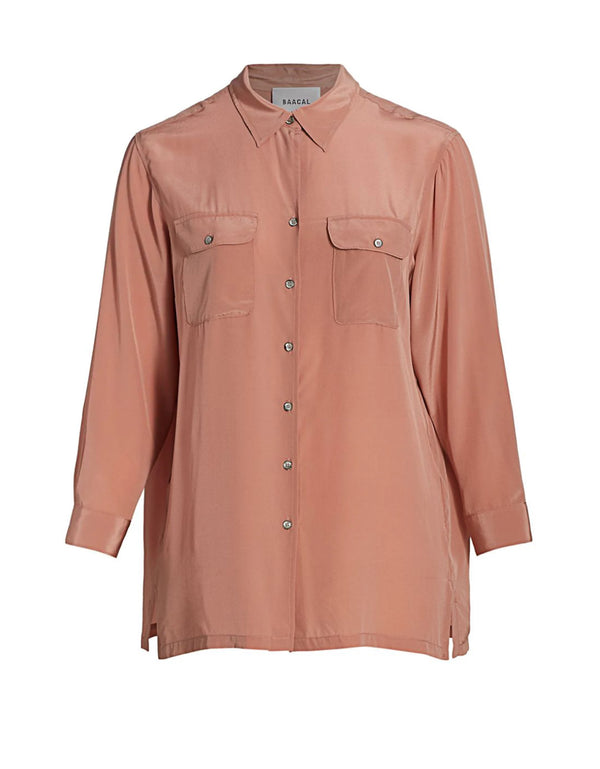 Taylor Button Down Shirt Terra-cotta