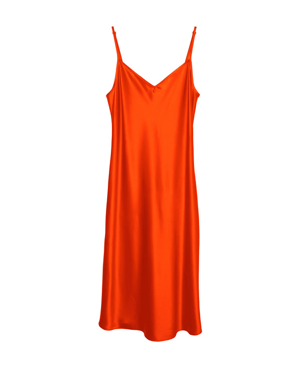 Cabaret Bias Slip Dress - Coral