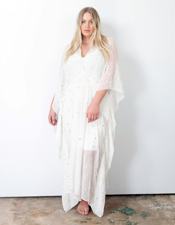 Mirrored Silk Kaftan No*17