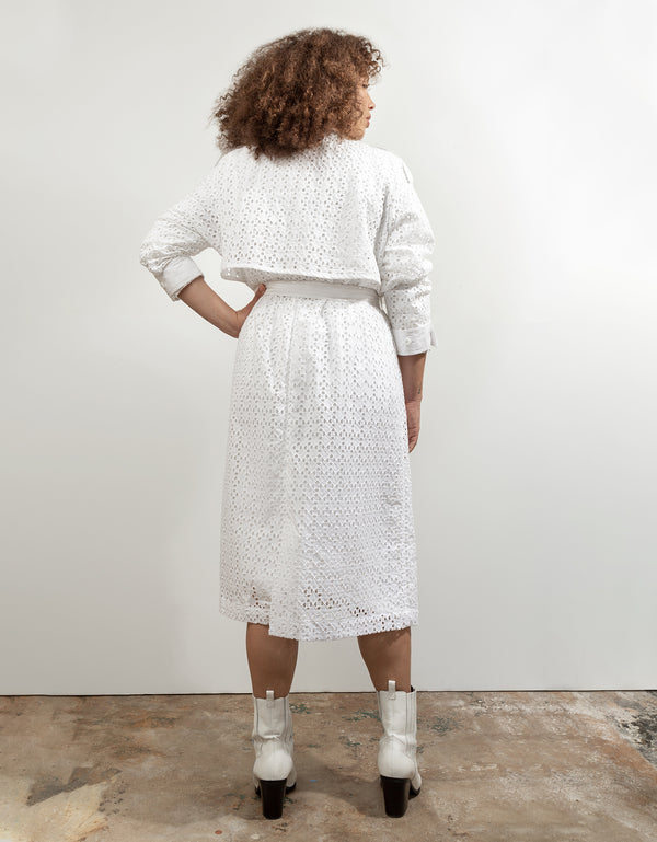 Cotton Eyelet Trench