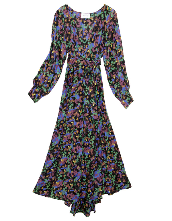 Maxi Wrap Dress No*39 Overnight Floral Cotton Voile