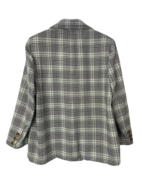 Short Beckett Plaid Double Breasted Car Coat No*64
