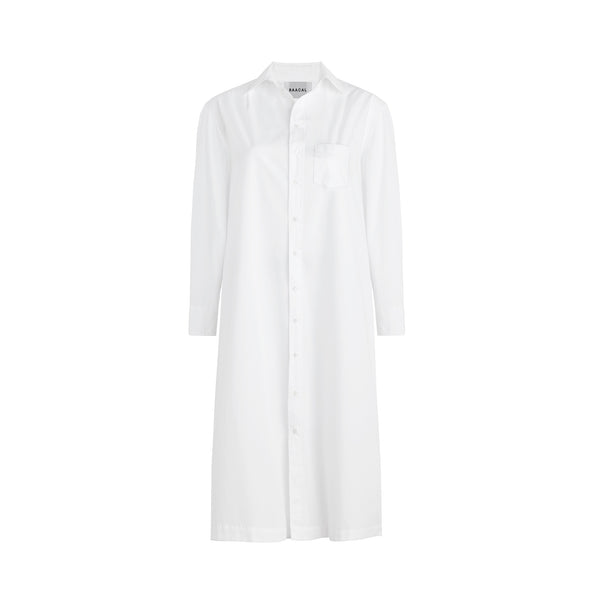 Long Cotton Shirt Dress