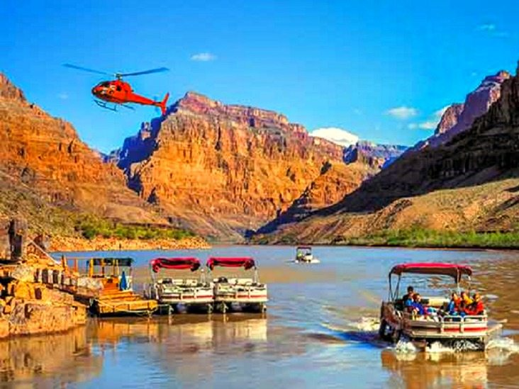Grand Canyon West Rim Bus, Helicopter & Boat Tour