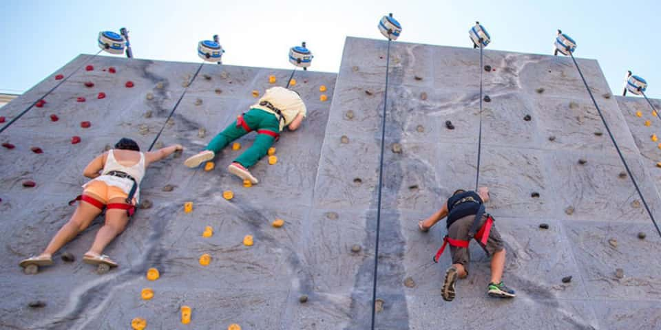 Belmont Park -  rock climbing - TLC Luxury Transportation - photo by Smart Destinations