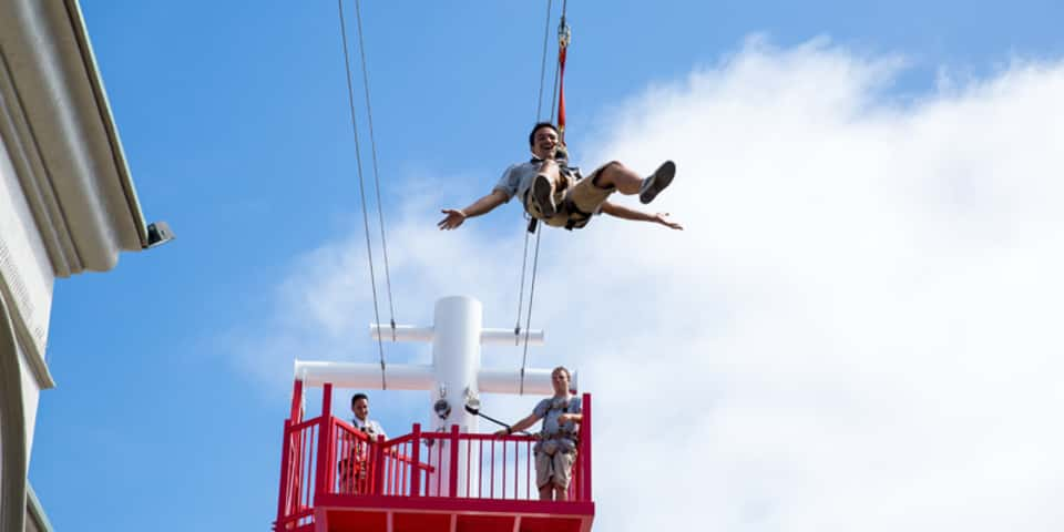 Belmont Park - zip line - TLC Luxury Transportation - photo by Smart Destinations