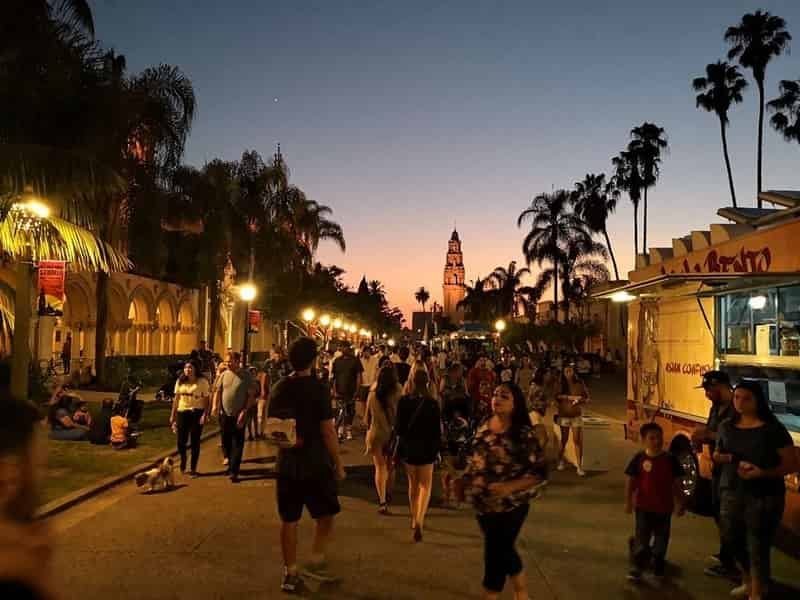 Sunset at Balboa Park