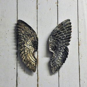 Antique Silver Left & Right Wings 36cm