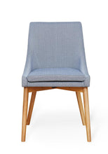 Load image into Gallery viewer, Oak 150cm table with 4 walnut grey chairs
