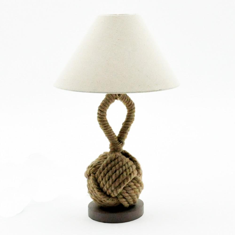 Rope Ball Table Lamp And Shade