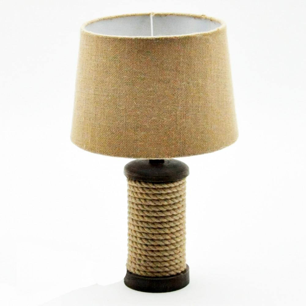 Straight Rope Table Lamp And Shade