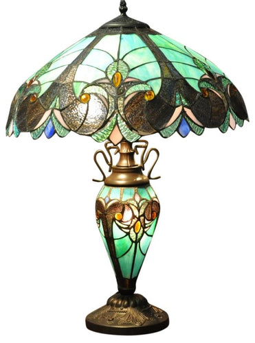 Turquoise Blue Double Tiffany Lamp 68cm