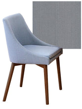 Load image into Gallery viewer, Walnut 150cm table with 4 walnut grey chairs