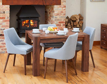 Load image into Gallery viewer, Walnut 4 seater with 4 walnut grey chairs