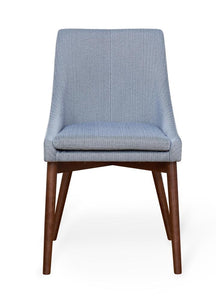 Walnut 4 seater with 4 walnut grey chairs
