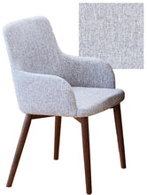Load image into Gallery viewer, Walnut 4 seater with 4 walnut light grey chairs