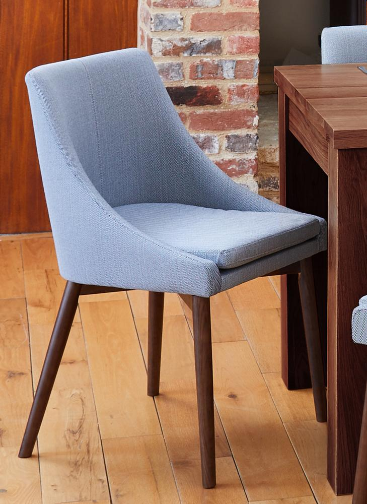 Walnut Grey Chair (Pack of two)