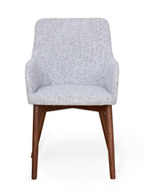 Load image into Gallery viewer, Walnut Light Grey Chair (Pack of two)