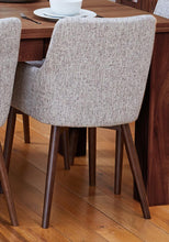 Load image into Gallery viewer, Walnut extending table with 6 walnut light grey chairs