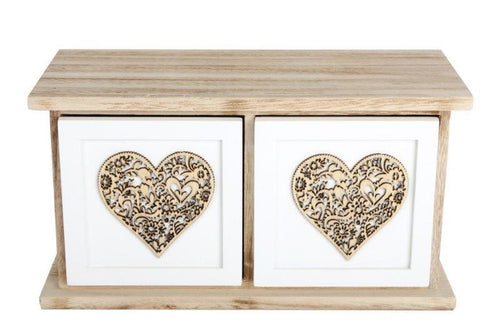 Wooden Heart Drawers