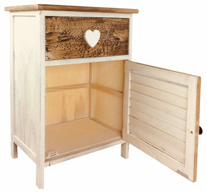 Wooden Love Heart Cabinet 58cm