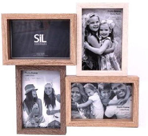 Wooden Quad Photo Frame 31cm