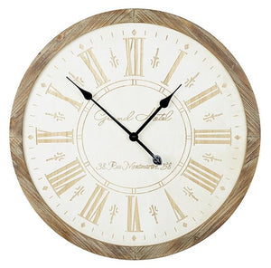 Wooden Wall Clock 65cm