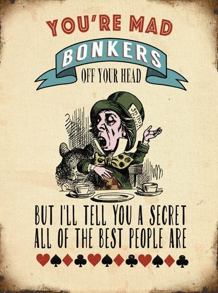 Your Mad Bonkers Metal Extra Large Sign, 40cm