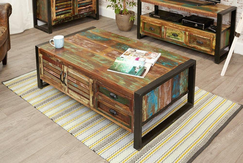 City Vibe 4 Door 4 Drawers Large Coffee Table