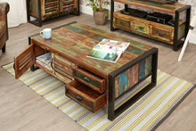 Load image into Gallery viewer, city vibe 4 door 4 drawers large coffee table