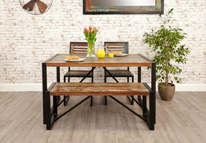 city vibe small dining bench