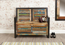 Load image into Gallery viewer, City Vibe Storage Monks Bench (with shoe storage)