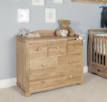 Load image into Gallery viewer, Daisy Oak Changer / Chest of Drawers